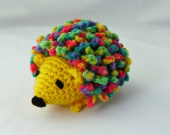 Haley the Hedgehog Crocheted Stuffed Amigurumi Toy yellow made to order
