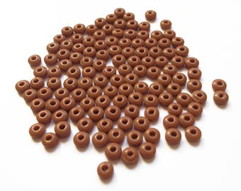 100 donuts coffee 5x2mm glass rondelle beads