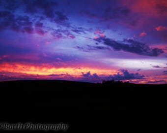 Artistic Photograph--Sunset--Gifts for her, him, man, woman, northwest, landscape, western, wall art, decor, palouse