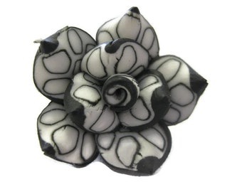 25mm Polymer Clay Rose Beads Set of Three (R23)