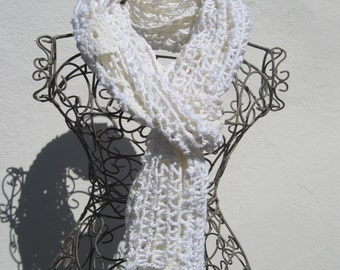 crochetted white and cream summer wrapp