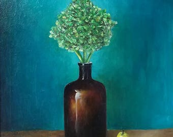 Free Shipping! Oil Painting,Jardiniere still life, Original Art, 40/50CM, 15.7/19.7Inches.