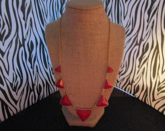 Red & Gold Chain  Necklace