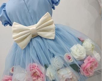 Girls floral party dress, girls luxury party dress, flower girl dress, girls artificial dress, girls birthday dress, beautiful flower dress