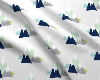 Moutain Range Fabric - Mountains By Graceandcruzdesigns - Geometric Mountain Nursery Decor Cotton Fabric By The Yard With Spoonflower