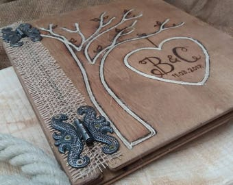 Rustic Wedding Guest Book, Custom Guest Book,Wedding album, guest book .Rustic, recycled wood.