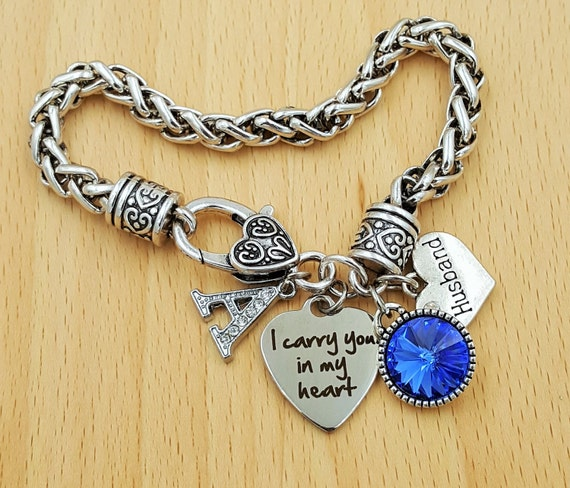 Sympathy Bracelet Sympathy Gift In Memory of Husband Memorial Bracelet Loss of Husband Loss of Husband Remembrance Bracelet Remembrance