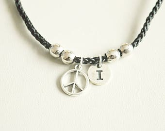 Peace Bracelet, Peace sign Bracelet, hippie Bracelet, Boho jewelry, Boho Bracelet, Peace symbol Bracelet, 70s, 80s, old school, hippy