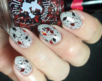 Rev Up Your Harley - Custom Harley Quinn Birthday Glitter Topper Nail Polish