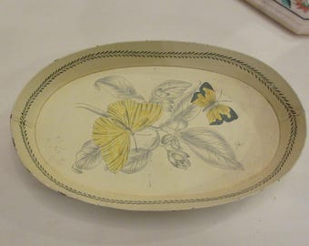 YELLOW BUTTERFLY TRAY