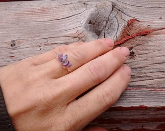 Charoite Crystal ring- made to order