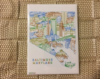 Baltimore Maryland Souvenir Magnet