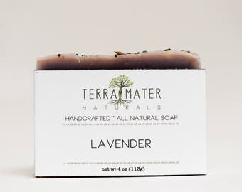 Lavender handmade natural vegan palm-free Soap