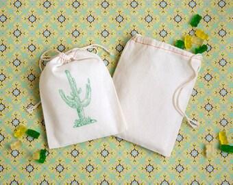 Cactus Favor Bags - Wedding Favors Bags - Succulent Party Favors - Desert Wedding Favors - Cactus Wedding Favors - Saguaro Cactus Wedding