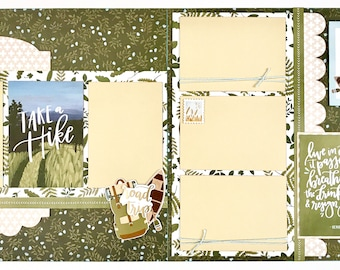 Take A Hike 2 Page Scrapbook Page Kit