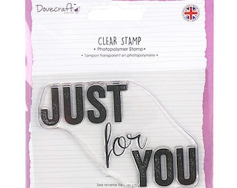 1 MAXI pad happiness love JUST FOR YOU as you CLEAR stamp set SCRAPBOOKING 9x6cm