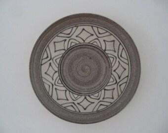 Large Vintage ceramic wall plate,Vintage pottery,decorative Vintage ceramics