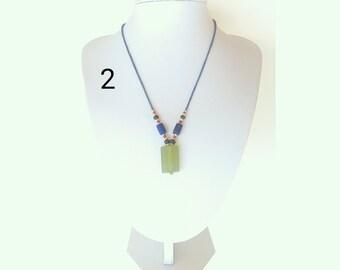 green jade pendant, jade pendant, jade necklace, minimalist necklace
