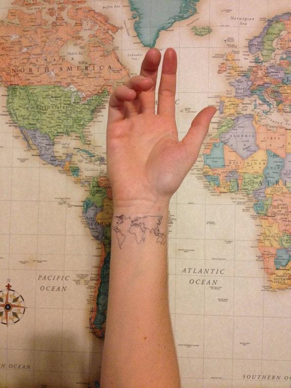 2 world map temporary tattoos smashtat gumiabroncs Images