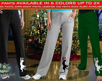 Great Dane - Crazy Great Dane Lady, Christmas, Happy Holidanes, Ladies Comfy, Warm, Sweatpants