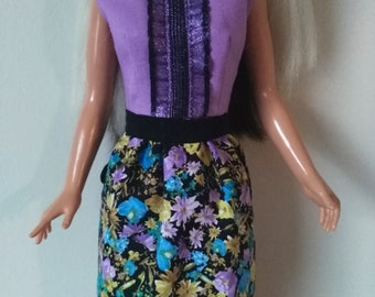 OOAK doll clothes for Tiffany Taylor and/or Magic Hair Crissy - Prim In Purple