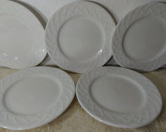 Set of 5 Bread \u0026 Butter Plate in Picnic by Oneida - Basic White Elegance & Oneida picnic china | Etsy