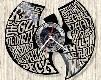 WU-TANG clan vinyl record wall clock unique home decor and wonderful gift idea