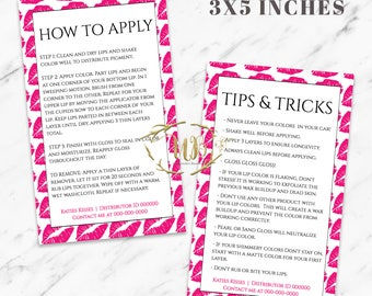 Hot Pink|Lips|LipSense Application and Tips|LipSense Cards|LipSense Application|LipSense Tips|SeneGence Cards|LipSense Instructions|Instant