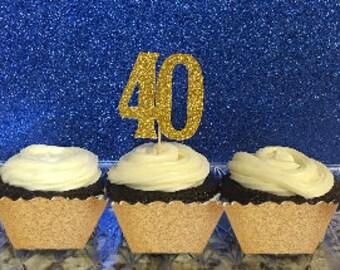40 Cupcake Topper