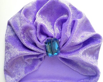 Bejeweled Baby Turban,Purple,Repurposed,Infant,Child,Christmas,Gift,Stocking Stuffer,Birthday,Rhinestone,crystal, ALADDIN,Girl,Baby Shower