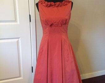 1950s Taffeta Princess Dress - Audrey Hepburn Style Size Small