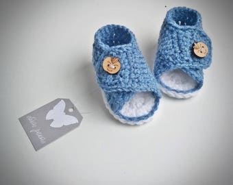 Crochet Baby Sandals, Crochet Baby Shoes, Baby boy sandals, Baby Sandals, Baby Shoes, Crochet Baby Boy Shoes, baby blue sandals, boys shoes