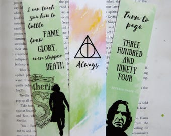 Snape Bookmarks (set of 3)