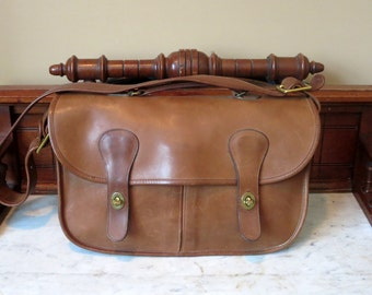 Dads Grads Sale Coach Musette Putty (Tabac) Leather Bag Made In New York City At The Factory - Fancied By Models, Dancers- VGC