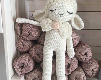 Sheep crochet, Amigurumi sheep,newborn toy,crochet stuffed animal, sheep baby doll, baby gift, amigurumi sheep toy, sheep nursery, XMas gift
