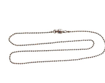 40 cm ball chain stainless steel magnetic closure