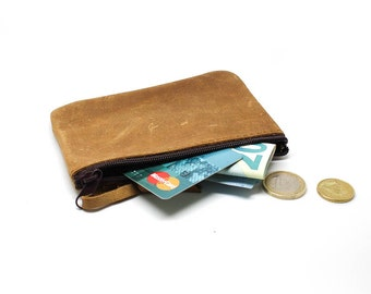 (Small) genuine leather clutch