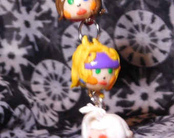 Final Fantasy X-2 Chibi Yuna, Rikku & Paine charm
