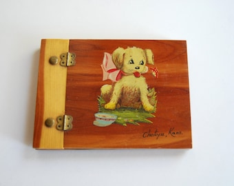 Vintage Autograph Book, Puppy Dog, Kansas