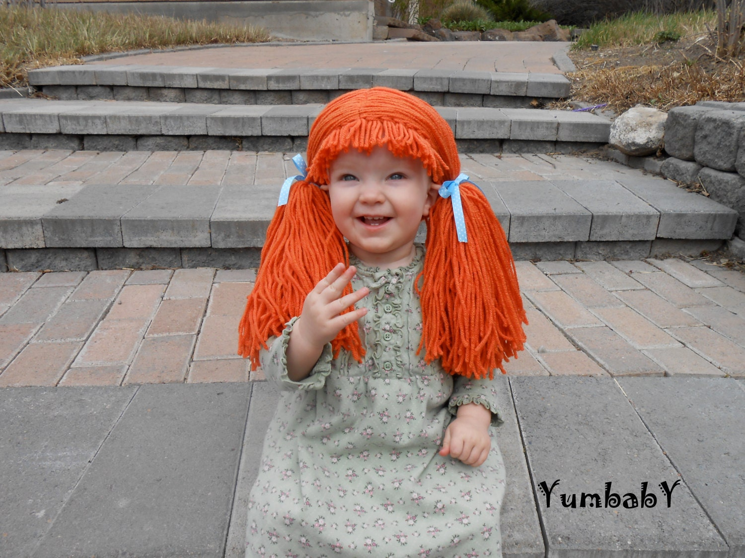 Doll Wig Cabbage Patch Inspired Baby Hat Baby Girl Halloween