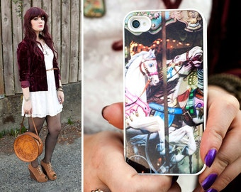 SALE: Paris Phone Case /  iPhone 4 / 4s iPhone 5 / 5S Case | Carousel Horses | Shabby Chic iPhone Cover |