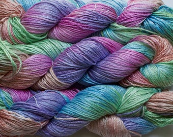 Silk Bamboo, Hand painted yarn, 225 yds - Fiesta