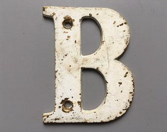 Vintage Letter B, Decorative Letter, Brass Display Letter, Shabby Chic Letter, Industrial Letter A with Chippy Paint