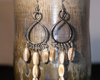 Clearance Sale - Natural Shell Earrings - Item 1552