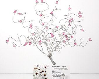 Swarovski Business Card Holder Crystal Birthstone Wire Tree Office Gift Decor