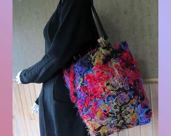 Knitting tote handmade