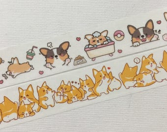 1 Roll of  Limited Edition Washi Tape-Welsh Corgi