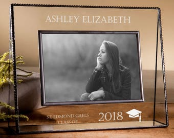 Graduation Gift 4x6 Picture Frame Personalized High School or College Grad Engraved Photo Frame 2018 Graduate Pic 319-46H EP500