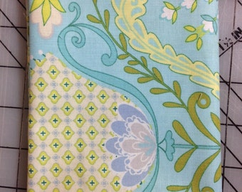 HALF YARD cut of Dena Designs - Little Azalea  - Hyacinth in Aqua- PWDF174