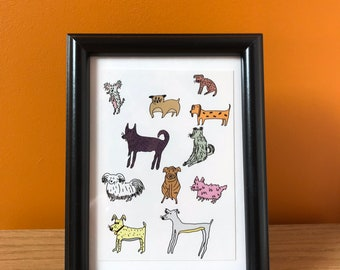 A dog is a doggo postcard (A6) - pack of two